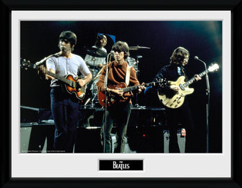 The Beatles - Live indrammet plakat