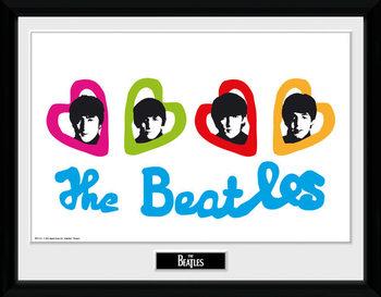 The Beatles - Love Hearts indrammet plakat
