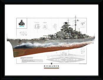 World Of Warships - Bismark indrammet plakat