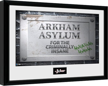 Batman Comic - Arkham Asylum Sign Ingelijste poster
