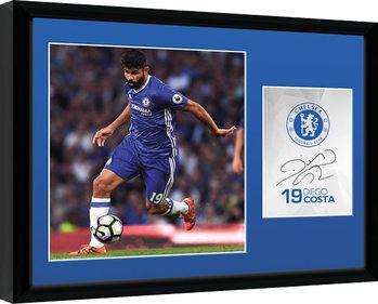 Chelsea - Costa 16/17 Ingelijste poster