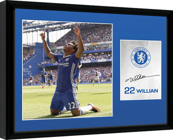 Chelsea - Willian 16/17 Ingelijste poster