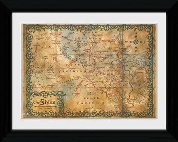 De Hobbit - Map ingelijste poster met glas
