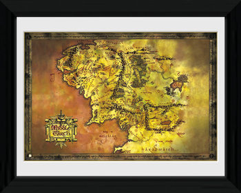 In de Ban van de Ring - Middle Earth ingelijste poster met glas