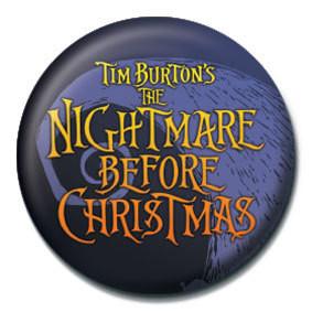 NIGHTMARE BEFORE CHRISTMAS - logo Insignă