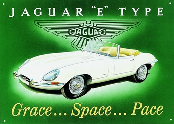 JAGUAR E-TYPE Metalen Wandplaat