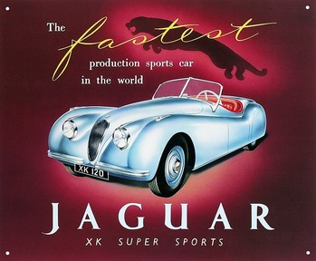 JAGUAR XK120 Metalen Wandplaat