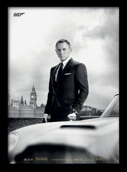 James Bond (Skyfall) - Bond & DB5 üveg keretes plakát