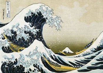 KACUŠIKA HOKUSAI  - The Great Wave off Kanagawa - плакат (poster)