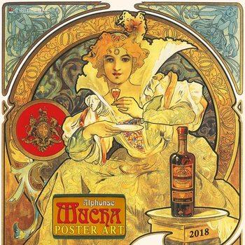 Kalendár 2018 Alphonse Mucha - Poster Art