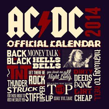 Kalendár 2017 Calendar 2014 - AC/DC