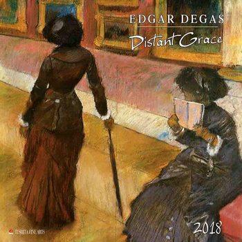 Kalendár 2018 Edgar Degas - Distanz Grace