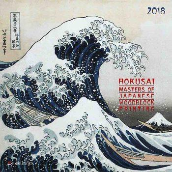 Kalendár 2018 Hokusai - Japanese Woodblock Painting