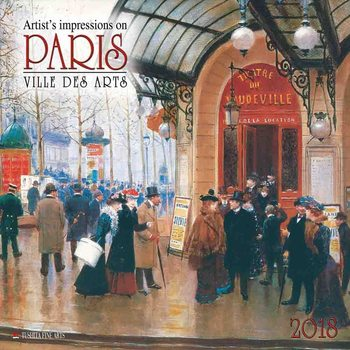 Kalendár 2018 Paris - Ville des Arts