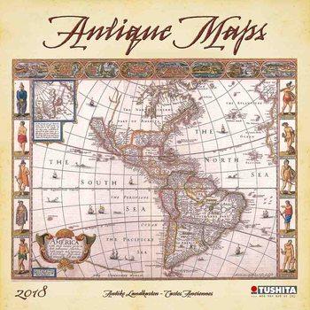 Antique Maps Kalendarz 2018