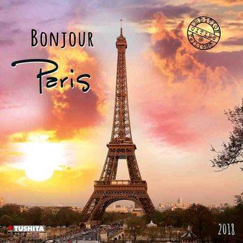 Bonjour Paris Kalendarz 2018