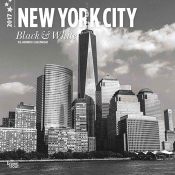 New York - Black & White Kalendarz 2017