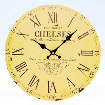 Design Clocks - Cheeses klok
