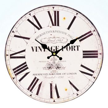Design Clocks - Vintage Port klok