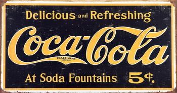 COKE VINTAGE LOGO Kovinski znak