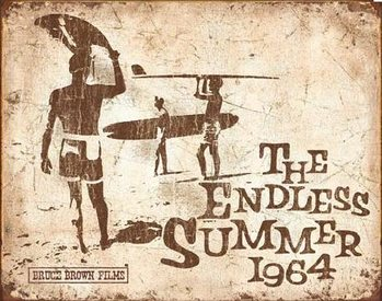 Endless Summer Retro Kovinski znak