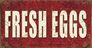 Fresh Eggs Kovinski znak