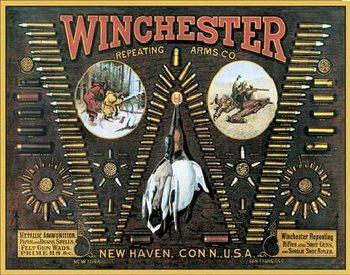 WINCHESTER - Bullet Board Kovinski znak