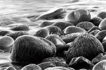 Kunst op glas Sea - Grey Stones