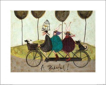 Sam Toft - A Bikeful!  Kunstdekor
