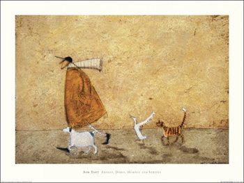 Sam Toft - Ernest, Doris, Horace And Stripes Kunstdekor