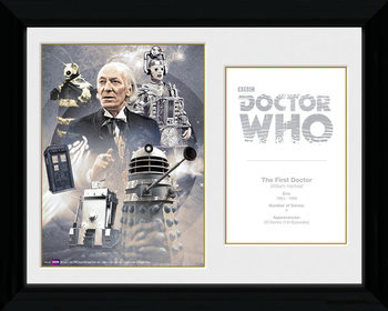 Doctor Who - 1st Doctor William Hartnell gerahmte Poster