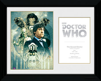 Doctor Who - 2nd Doctor Patrick Troughton gerahmte Poster