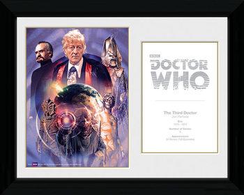 Doctor Who - 3rd Doctor Jon Pertwee gerahmte Poster