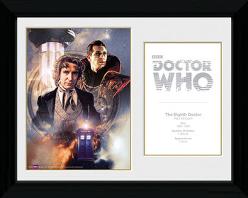 Doctor Who - 8th Doctor Paul McGann gerahmte Poster