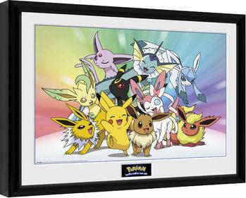 Pokemon - Eevee gerahmte Poster