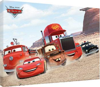 Biler - Desert Race Billede på lærred