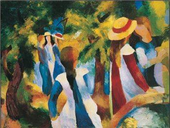 Lámina Girls Under the Trees
