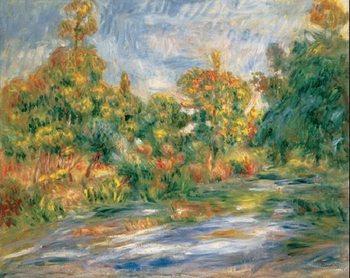 Lámina Landscape with River, 1917