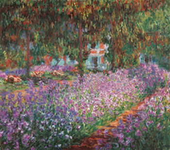 Lámina The Artist's Garden at Giverny, 1900
