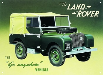 LAND ROVER SERIES 1 Metalen Wandplaat