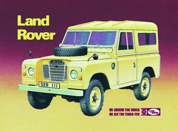 LAND ROVER SERIES 3 Metalen Wandplaat