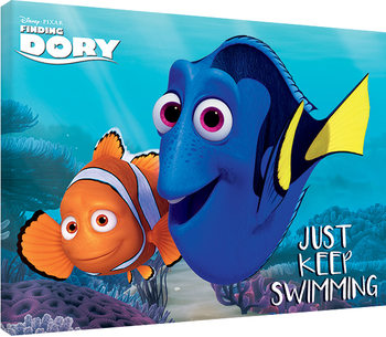 Leinwand Poster  Findet Dorie - Just Keep Swimming