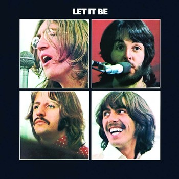 LET IT BE ALBUM COVER Metalplanche
