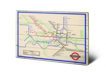 Poster su legno London Transport
