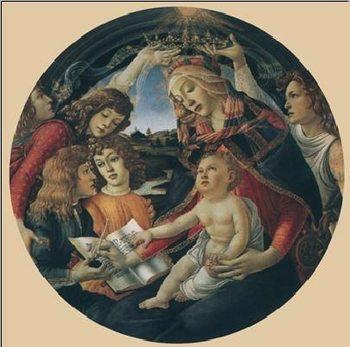 Madonna of the Magnificat, 1481-85 Festmény reprodukció
