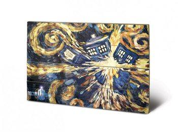 Målning på trä Doctor Who - Exploding Tardis