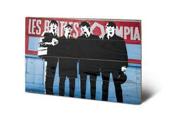 Målning på trä The Beatles In Paris