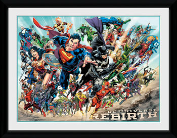 DC Universe - Rebirth Poster enmarcado