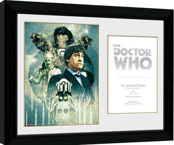 Doctor Who - 2nd Doctor Patrick Troughton Poster enmarcado
