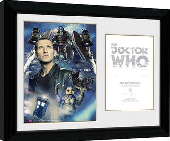 Doctor Who - 9th Doctor C. Ecclestone Poster enmarcado